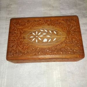 Hand carved Sheesham wood box